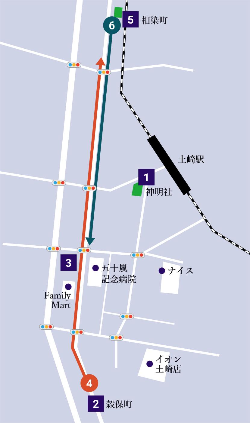土崎曳山まつりマップ